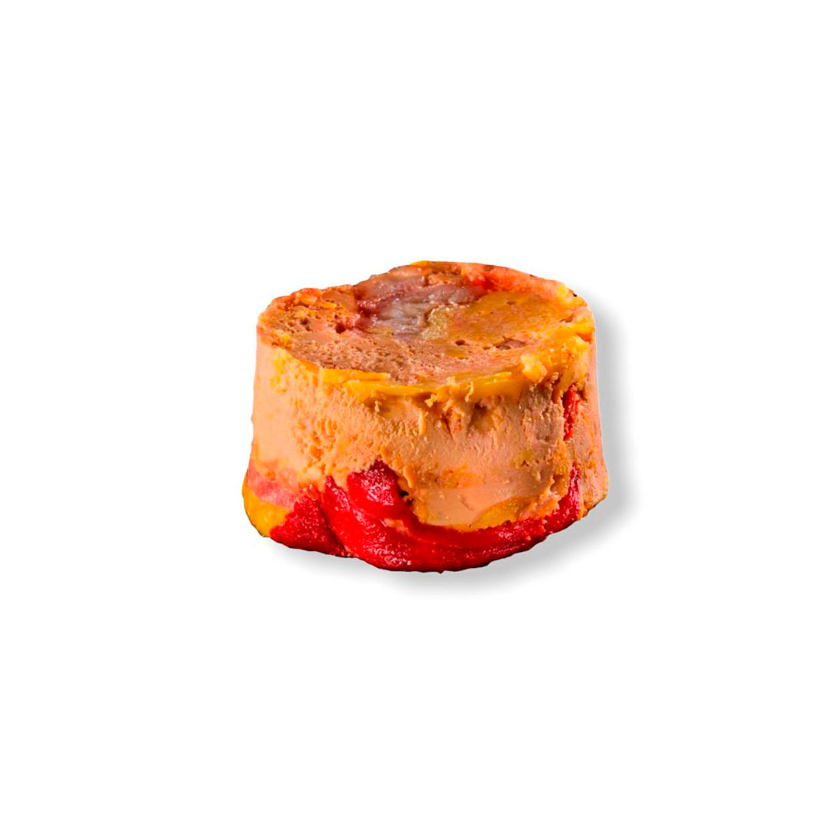 Foie gras micuit con pimiento del piquillo y anguila ahumada
